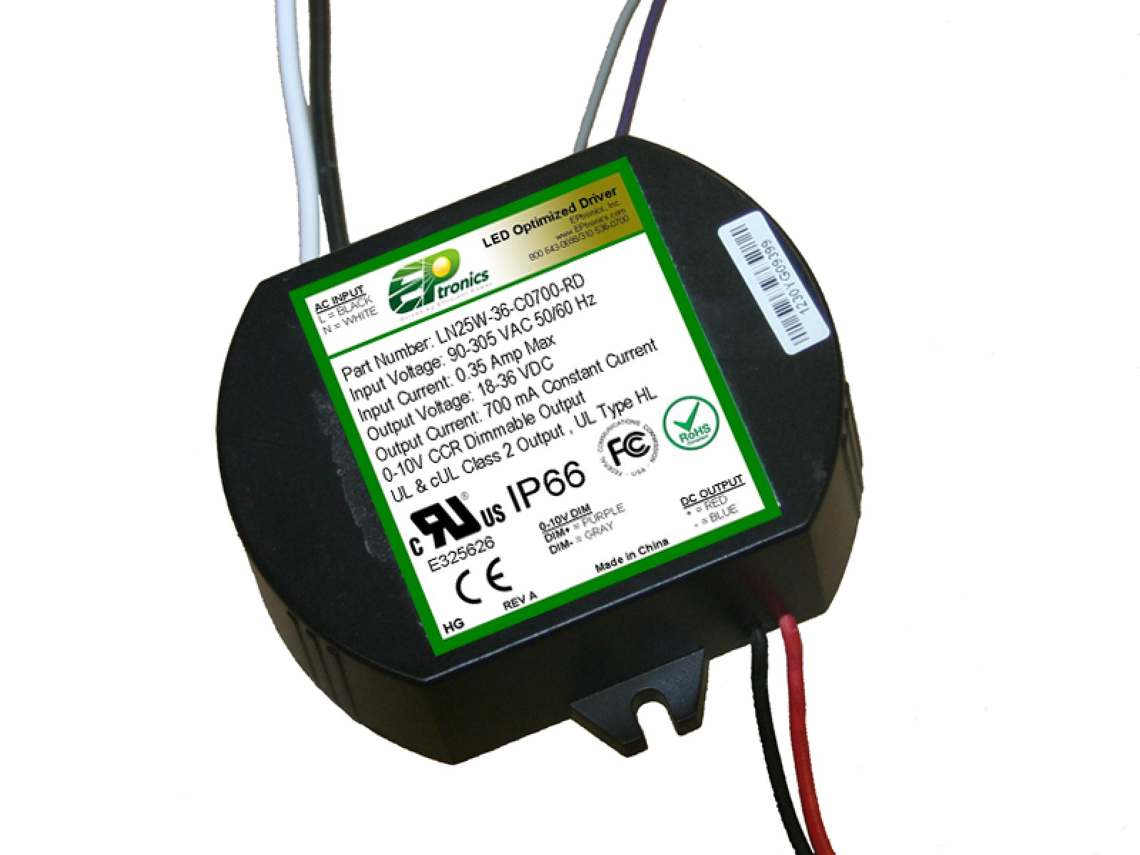 25w led driver UL Class P Type HL for Hazardous Locations