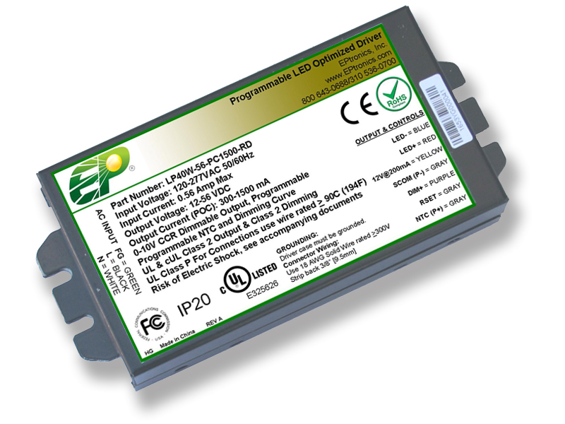 40w programmable Flicker Free dimmable led driver